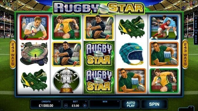 An image of the Rugby Stars Online Pokies