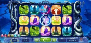Image of Legend of the White Snake Pokie Game Play